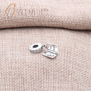 Toptan-Otantik 925 Ayar Gümüş Mutlu Doğum Günü Kek Dilek Dangle Temizle CZ Charm Fit Orijinal Bilezik Takı PAS1511 701 Q2