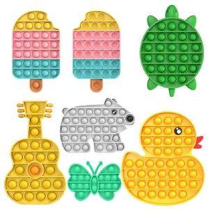 Стильная вечеринка пузырь сенсорные игрушки Push раздражительный надо сжать взрослых детей весело стресс