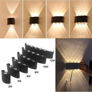 Indoor Outdoor Waterproof Wall Lamp IP65 Led Aluminum UP Down Lights For Home Stairs Bedroom Headboard Garden Porch Lighting