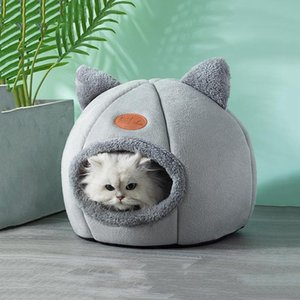 Deep Sleep Comfort In Winter Cat Bed Little Mat Basket For Cat's House Products Pets Tent Cozy Cave Beds Indoor Cama Gato & Furniture