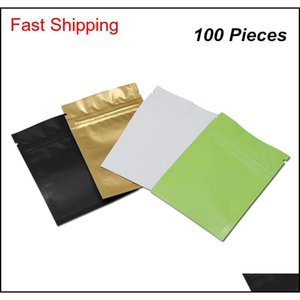 Multisize Matte Resealable Mylar Zipper Packaging Bags Closure Aluminum Food Storage Pouch Foil Baggies For Coffee 0Lzm Fg91I
