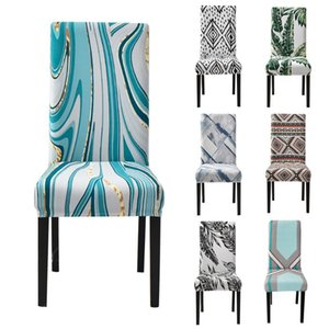 Spandex Stretch Printed Chair Cover Dinning Room Kitchen Slipcovers Protector For Wedding Banquet Party Living Covers