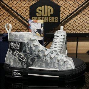 Technologie oblique de qualité supérieure B23 Toile Baskets Sneakers Hommes Femmes Pays de la mode Plate-forme extérieure Luxurys Designers Casual Chaussures