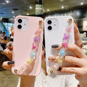 Cute 3D Candy Love Heart Chain Cases For iPhone 13 Pro Max Soft TPU Case 11 xs Coque iPhone12
