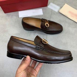 2021 Мужские Дизайнерские Платье Обувь Черная Коричневая Кожа Высокое Качество Роскошные Моды Мужчины Повседневные Носок PROM Вечерняя Обувь с оригинальной коробкой