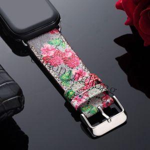 G Цветовой узор кожаный ремешок для яблочных часов Band Series 6 5 4 3 2 40 мм 44 мм 38 мм 42 мм браслет для пояса iWatch