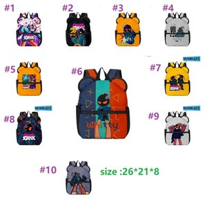 backpack Cat Cropped Kids Game Friday Night Funkin Schoolbag Students Travel Backpack Notebook Laptop Bag Gifts for Friends 26*21*8cm