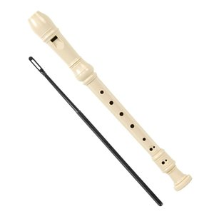 60 Pieces Wholesale Soprano Recorder Flute Descant 8 Hole Key of C ABS with Cleaning Rod for Student Practice