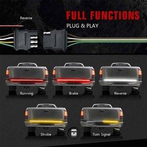 "60"" Tailgate LED Strip Bar Stop Brake Turn Signal Tail Light For F150 Emergency Lights"
