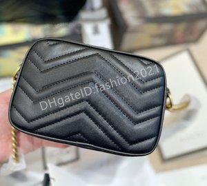 2021 Lady Love Damen Mini Marmont Tasche Handtaschen Kreuz Körper Zip Hardware 24k Hohe Qualität Frauen Mode Umhängetaschen Kreuzkörper Handtasche