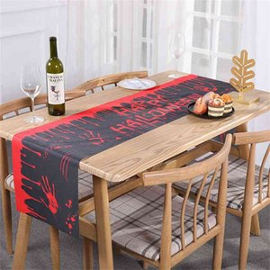 Halloween Table Flag Tablecloth Fashion Festival Chirstmas Halloween's Decoration Party Restaurant Home Table Cloth Cover Ornamentation G78W0EQ