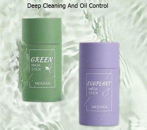 new fashional Green Tea Cleansing Solid Mask Deep Clean Beauty Skin GreenTeas Moisturizing Hydrating Face Care Facial Masks & Peels purple case
