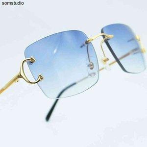 Gafas de sol Casual al aire libre Gafas de sol Espejo plano 5cyf