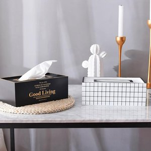 Tissue Boxes & Napkins Nordic INS Wooden Crafts Living Room Dining Decoration Box July 25 Drop