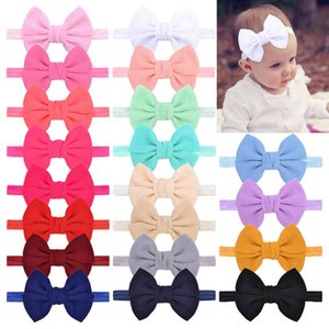 20pcs Set Baby Girl's Headband 43 Inch Hair Bows Headbands Elastic Hairband for born Infant Toddler Pographic Accessorie