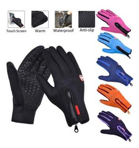 Touch screen motorcycle gloves winter outdoor sports warm men and women non-slip waterproof protective gear