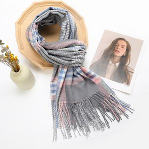Winter Scarf Female Autumn, Artificial Cashmere Plaid Tassel, Soft And Comfortable Warm 2021 Tippet For Women Scarves