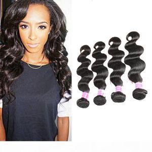 Malaysian Peruvian Mongolian Cambodian Indian Brazilian Human Hair Weaves Natural Black Body Wave Hair Extensions Dhgate Best Selling Items