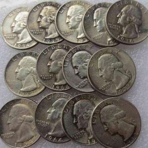 У.с. Монеты набор (1932-1964)) -PSD 14 шт. Вашингтон четверть доллара копия украсить монету