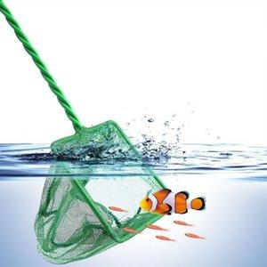 Acquario Pesce Nets 1pc utile portatile manico lungo quadrato acquario acquario serbatoio da pesca rete di atterraggio rete per il pesce 1092 Z2