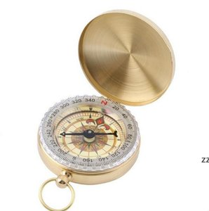 Portable Brass Pocket COMPASS Sports Camping Hiking Portable Brass Pocket Fluorescence Compass Navigation Camping Tools HWD10060