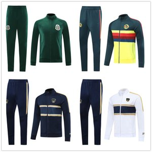 Выжитие 2021 Club America Мужская футбольная куртка Комплект Учебный костюм 20 21 Футбольный костюм Unam Trussusit Mexico Club Chandal Joging Brolge