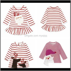 Одежда, детка, дети, дети родильный рождественский доставку 2021 ins девочки рождественские платья принцессы полоса с длинным рукавом детская юбка рождественская вечеринка косплей стоимость