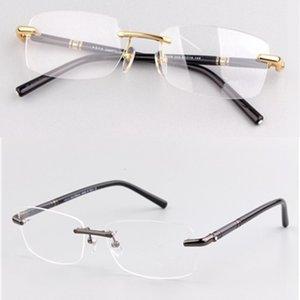MB бренд мужские оптические очки рамка 476 Очки без очки без оправы для мужчин золотые серебряные очки миопии очки с оригинальным корпусом