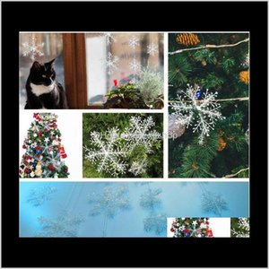 China Style Souvenir White Hanging Snowflake Christmas Tree Decorations For Home Weddding Party 6Pcs With Window Sticker Gu3Kn 3Esvf