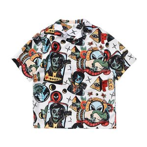الرجال عارضة القمصان camisa hombre الرجال قميص زر قصيرة الأكمام الشارع الشهير الرجعية هاواي رجل الصيف الذكور الأعلى