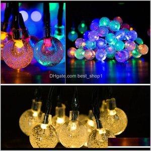 Decorations 30 Led String 65M Crystal Ball Solar Powered Globe Fairy Lights Christmas Decoration Outdoor Lighting 0Pzcj 1Uxnb