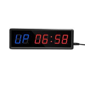 Программируемое дистанционное управление светодиодом СИД CrossFit Timer Interval Гараж Спортивные тренировочные часы тренажерный зал Настенные часы