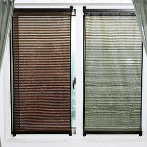 1pc 135x60cm Roller Blinds Punching Free Sunshade Window Curtain For Home Bedroom Living Room Store (Brown)