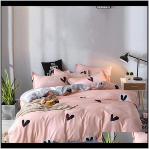 Fournitures Textiles Accueil Gardendesigner Couches de lit de literie Ensemble de fibres de polyester 100percent Bref de la plante Taie d'oreiller Plante Duvet ER Ensembles