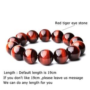 Beaded, Strands 2021 4 6 8 10 12mm Real Tiger Eye Bracelet Men Women Natural Stone Braslet Wine Smooth Beaded Brazalete Yoga Meditation Brac