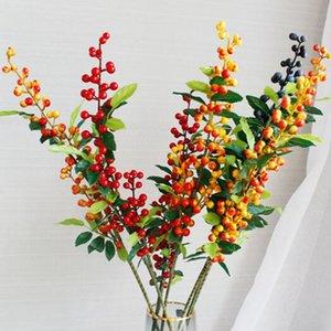 5 Adet Köpük Yabanmersini Dalları Mavi / Sarı / Turuncu Renkler Yapay Mavi Berry Ağacı Berry Fruit Y0329 Kaynaklanıyor