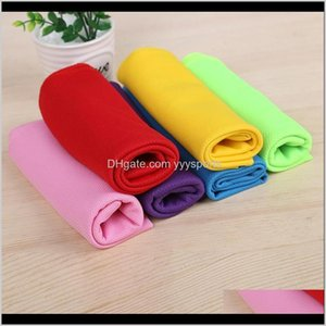 Cover-Ups 10Pcs Fitness Swimming Soft Absorbent Endurable Sports Towel Thicken Facecloth Breathable Cool Quick Dry Kded9 Q2S6F