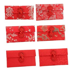 Pcs Year's Creative Embroidered Fabric Red Envelope Bag Lishi Seal Personalized Customized Wedding Packet Gift Wrap