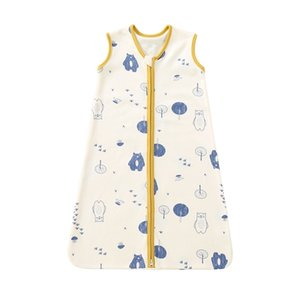 pureborn born Baby Sleepsack Cotton 2-Way Zipper Wearable Blanket Cartoon Bear Sleep Bag Sack Clothes All Season 210913