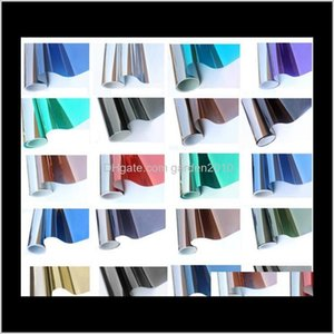 Window Block Heat Insulation Glass Pastes Selfadhesive Sun Building Shading Film Oay Reflective Decorative Stickers Home Décor M2Dxg Jbpci