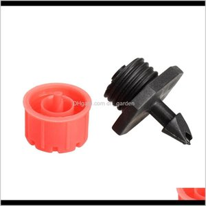 Watering Equipments Supplies Patio Lawn Home Drop Delivery 2021 100Pcs Flow Drip Head 14 Inch Hose Micro Irrigation Misting Garden Sprinkler