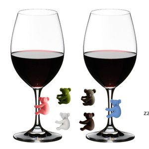 Koala Cup Bar Tools Recognizer Wine Glass Cups Silicone Identifier Tags Party Wines Glasses Dedicated Tag 6pcs  set HWE9136