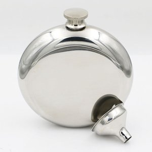 150ml Stainless Steel Hip Flask Portable Outdoor Flagon Silvery Whisky Stoup Wine Pot Alcohol Bottles with Funnel HHA567