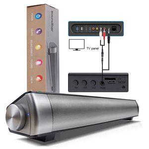 Retro Desktop SoundBar Bluetooth inalámbrico altavoz Long Bass Gun Cross Border Regalo Audio