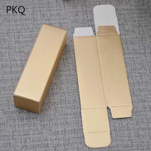 100 pcs Novo papel kraft de ouro 350gsm cartão batom es pequeno presente de embalagem de óleo essencial / caixa de armazenamento de tubo