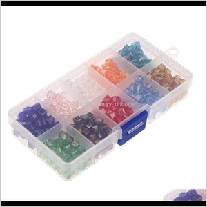 10 Mixed Color Crystal Faceted Glass Spacer Loose Charms For Diy Jewelry Making Findings With Clear Storage Box Uzhwc Nalos