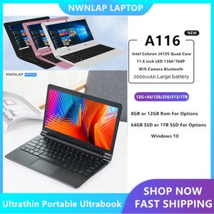 NWNLAP 11.6inch Quad Core CPU 12GB RAM 128GB 256GB 512GB 1TB SSD Office Home Ultrathin Ultrabook Laptop Computer