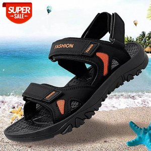 REETENE New Men'S Sandals Big Size 39-48 Leather For Men Outdoor Walking Summer Comfortable Shoes #WG5V