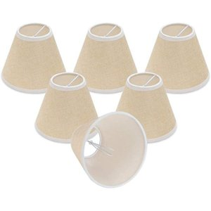 Lamp Covers & Shades Chandelier Shades, Only For Candelabra Bulbs, Clip-on Fitter 3inch X 6inch 5inch, Set Of 6