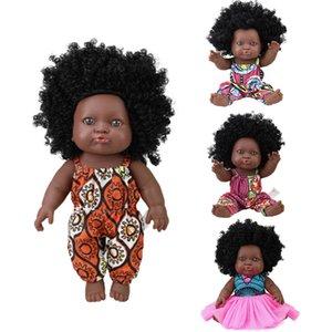 American Reborn Black Doll Handmade Silicone Vinyl Renorn Soft Lifelike Newborn Baby Dolls Toy Girl Christmas Gift